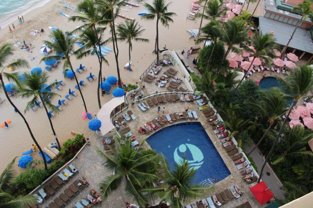 View from room - Outrigger Waikiki